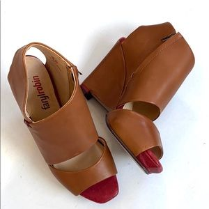Like new Anthro / Faryl Robin leather wedges
